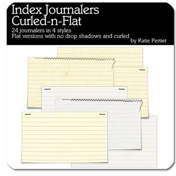 Index Journalers Curled And Flat Digital Art - Digital Scrapbooking Kits