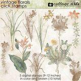 Vintage Florals Click.stamps