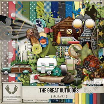 The Great Outdoors Digital Art - Digital Scrapbooking Kits