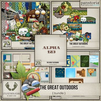 The Great Outdoors Bundle Digital Art - Digital Scrapbooking Kits