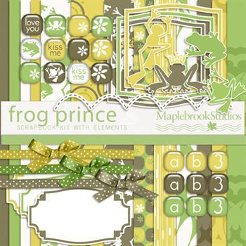 Frog Prince Kit Digital Art - Digital Scrapbooking Kits