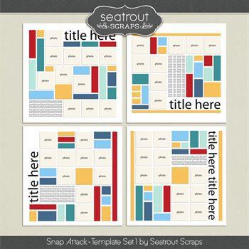 Snap Attack Set 1 Digital Art - Digital Scrapbooking Kits