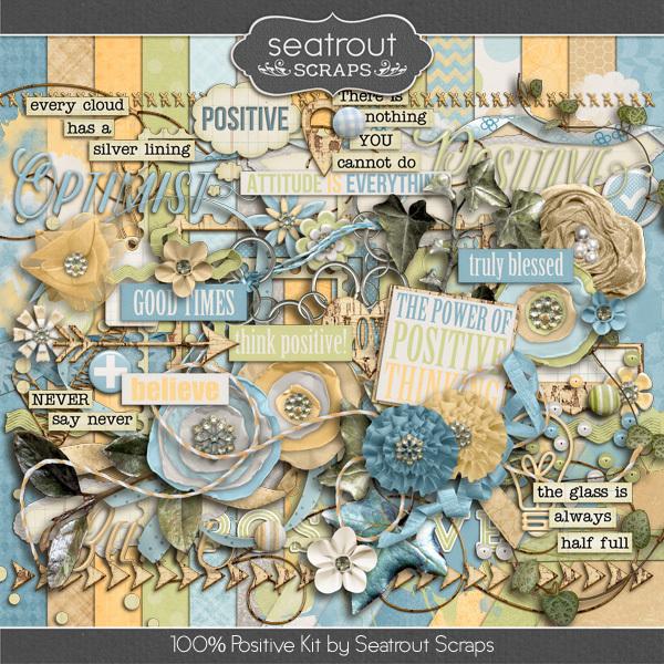 100% Positive Digital Art - Digital Scrapbooking Kits