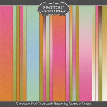 Summer's End Colorwash Papers