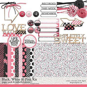 Black, White And Pink Mini-kit