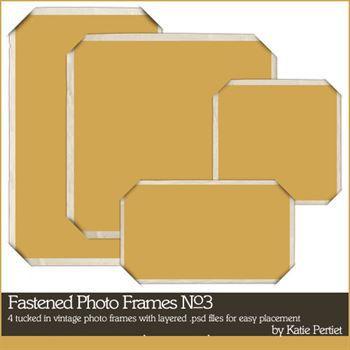 Fastened Frames No. 03 Digital Art - Digital Scrapbooking Kits