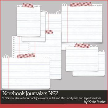 Notebook Journalers No. 02 Digital Art - Digital Scrapbooking Kits