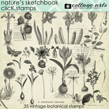 Nature's Sketchbook Click.stamps
