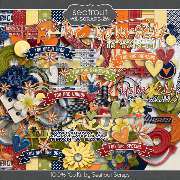 100% You Digital Art - Digital Scrapbooking Kits