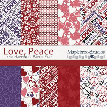 Love, Peace And Happiness Paper Pack