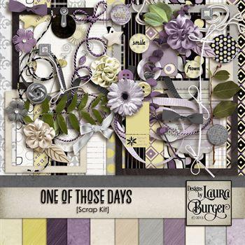 One Of Those Days Scrap Kit Digital Art - Digital Scrapbooking Kits