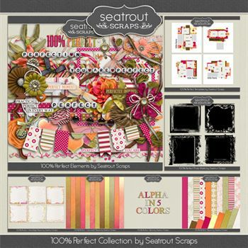 100% Perfect Bundle Digital Art - Digital Scrapbooking Kits