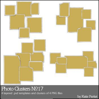 Photo Clusters No. 17 Digital Art - Digital Scrapbooking Kits