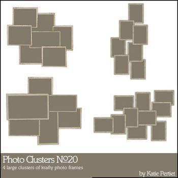 Photo Clusters No. 20 Digital Art - Digital Scrapbooking Kits