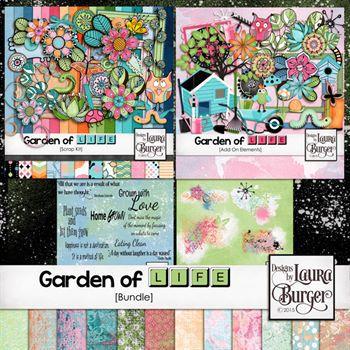 Garden Of Life Bundle Digital Art - Digital Scrapbooking Kits