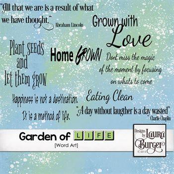 Garden Of Life Word Art Digital Art - Digital Scrapbooking Kits