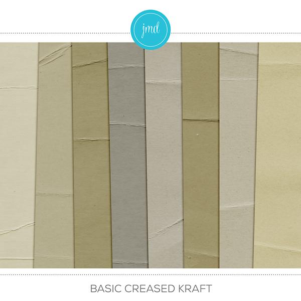 Basic Creased Kraft Digital Art - Digital Scrapbooking Kits