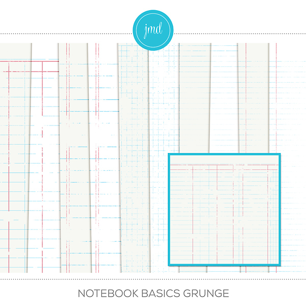 Notebook Basics Grunge Digital Art - Digital Scrapbooking Kits