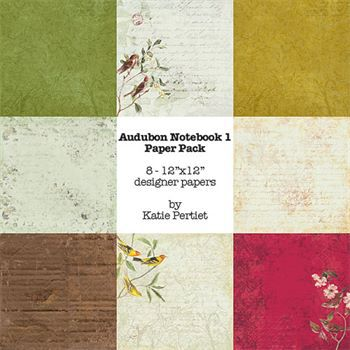 Audubon Notebook Paper Pack No. 01 Digital Art - Digital Scrapbooking Kits