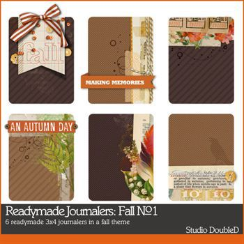 Readymade Journalers Fall No. 01 Digital Art - Digital Scrapbooking Kits