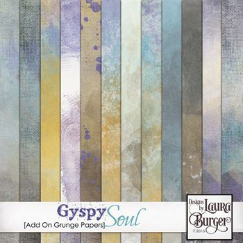 Gyspy Soul Add On Grunge Papers Digital Art - Digital Scrapbooking Kits