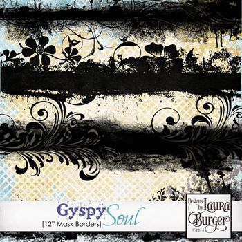 Gyspy Soul Border Masks Digital Art - Digital Scrapbooking Kits