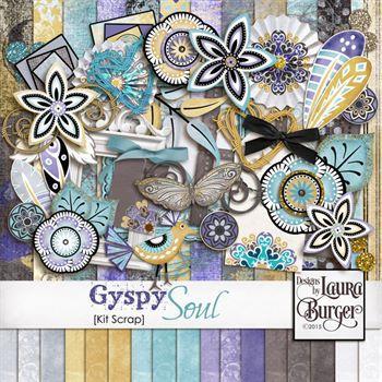 Gyspy Soul Scrap Kit Digital Art - Digital Scrapbooking Kits