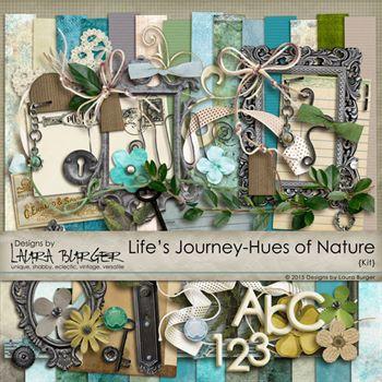 Life's Journey- Hues Of Nature Digital Art - Digital Scrapbooking Kits