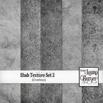 Shab Textures Set 2 Digital Art - Digital Scrapbooking Kits