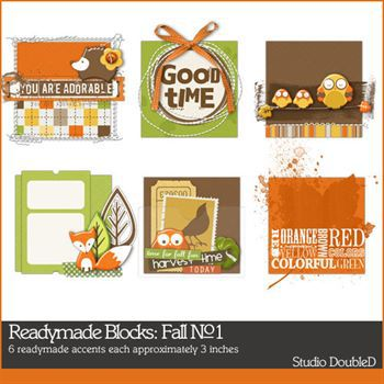 Readymade Blocks Fall No. 01 Digital Art - Digital Scrapbooking Kits