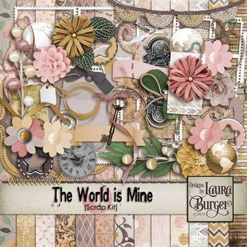 The World Is Mine Scrap Kit Digital Art - Digital Scrapbooking Kits