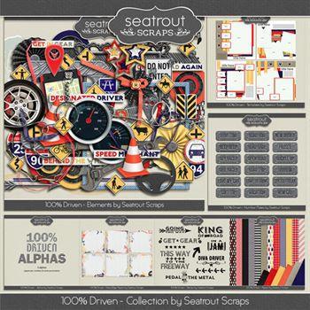 Driven Bundle Digital Art - Digital Scrapbooking Kits
