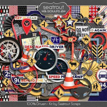 Driven Kit Digital Art - Digital Scrapbooking Kits