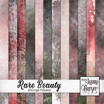 Rare Beauty Grunge Add On Papers Digital Art - Digital Scrapbooking Kits