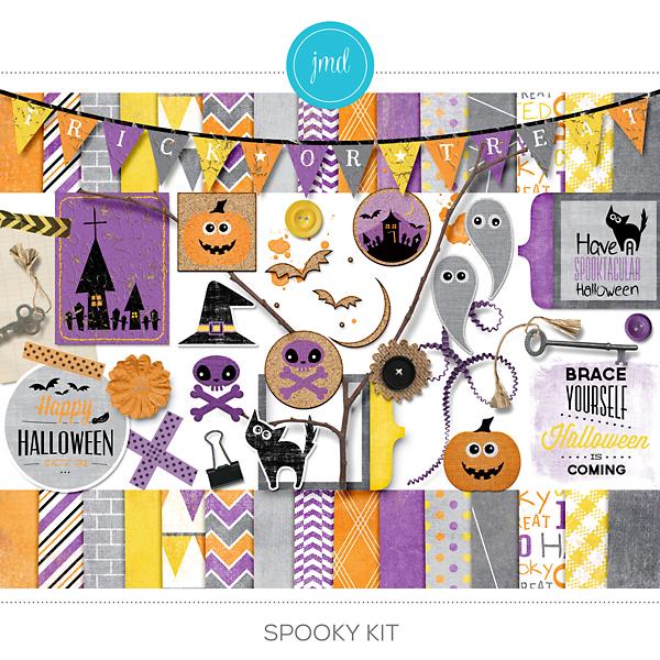 Spooky Kit Digital Art - Digital Scrapbooking Kits