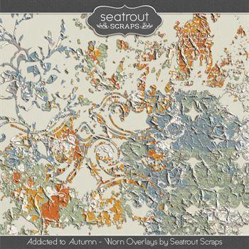 Autumn Addiction Overlays Digital Art - Digital Scrapbooking Kits