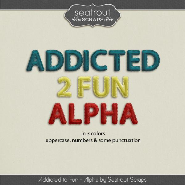 Addicted to Fun Alpha Digital Art - Digital Scrapbooking Kits
