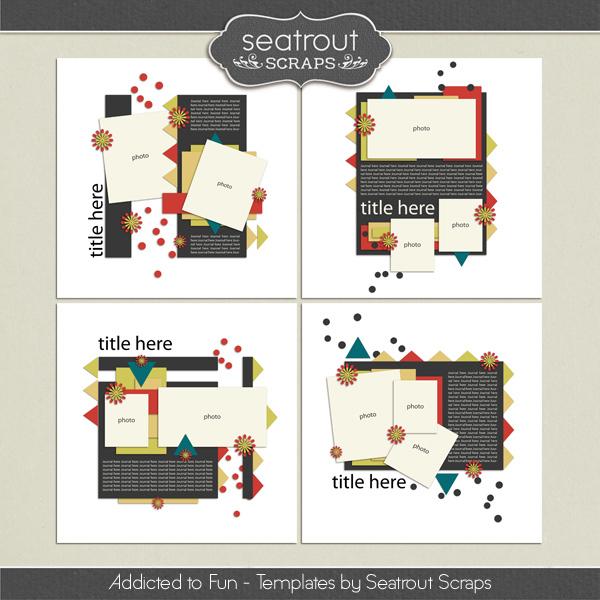 Addicted to Fun Templates Digital Art - Digital Scrapbooking Kits