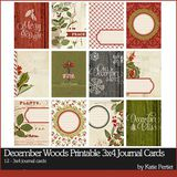 December Woods Printable 3x4 Journal Cards