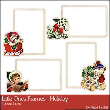 Little Ones Frames Holiday Digital Art - Digital Scrapbooking Kits
