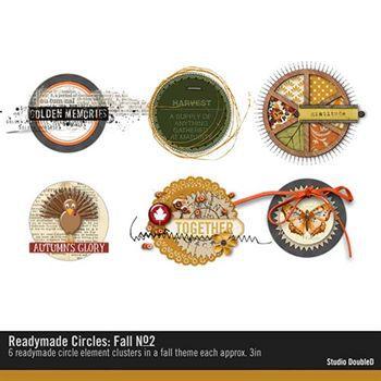 Readymade Circles Fall No. 02 Digital Art - Digital Scrapbooking Kits