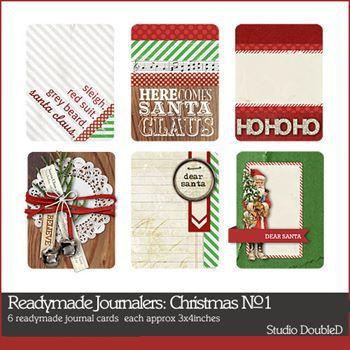 Readymade Journalers Santa No. 01 Digital Art - Digital Scrapbooking Kits