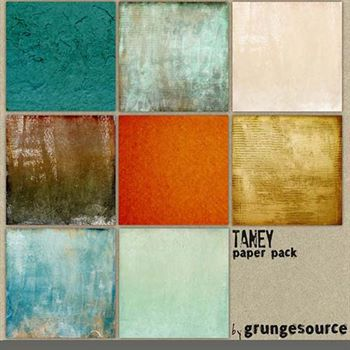 Taney Paper Pack Digital Art - Digital Scrapbooking Kits