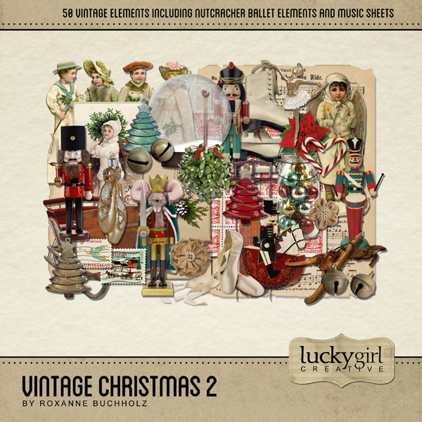 Vintage Christmas 2 Digital Art - Digital Scrapbooking Kits