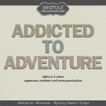 Addicted To Adventure Alpha Digital Art - Digital Scrapbooking Kits