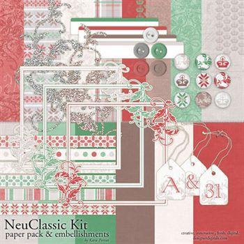 Neuclassic Kit Digital Art - Digital Scrapbooking Kits