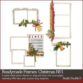 Readymade Frames Christmas No. 01 Digital Art - Digital Scrapbooking Kits