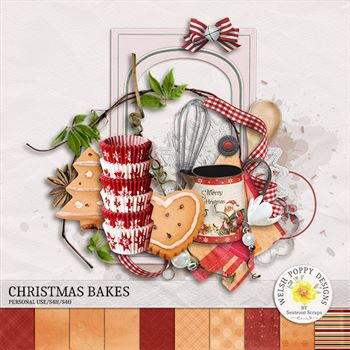 Christmas Bakes Mini Kit Digital Art - Digital Scrapbooking Kits