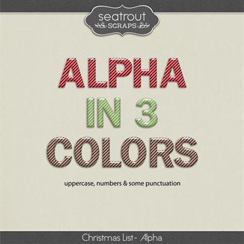 Christmas List - Alphas Digital Art - Digital Scrapbooking Kits