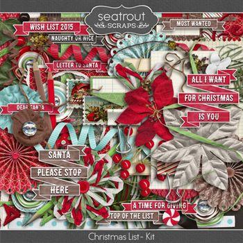 Christmas List - Kit Digital Art - Digital Scrapbooking Kits